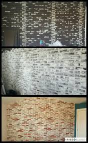 diy faux brick wall panels from lowe s dry wall spackle and some chalk paint