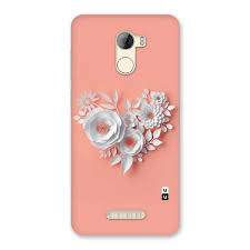 Paper Flower Mobiles White Paper Flower Back Case For Gionee A1 Lite