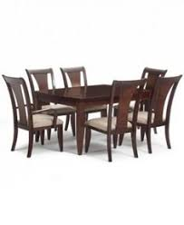 metropolitan contemporary 7 piece dining set dining table 4 side chairs 2 arm chairs created for macy s