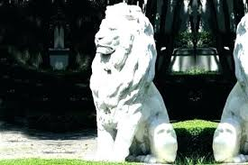 concrete lion statue molds outdoor an exceptional garden statues large ornaments white for