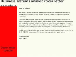 Systems Analyst Cover Letter Cover Letter For Quality Analyst Cover
