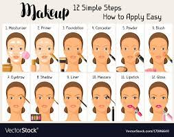 makeup 12 simple steps how to apply