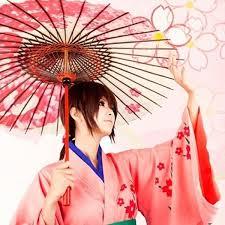 Shimura Tae Cosplay Costumes Pink Kimono <b>Japanese Anime</b> ...