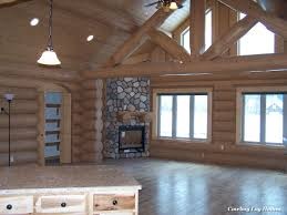 Log Home Interior Completed Cowboy Log Homes - Log home pictures interior