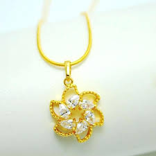 gold flower pendant pendant necklace weighs about 6 grams gold lotus flower pendant necklace