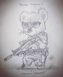 """348 Gostos, 9 Comentários - @hiwez no Instagram: """"Look at the Tactical  Koala Teddy we just drew! Pedro Higgins! ... Thanks to everybody wh… 