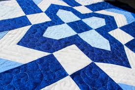 Cross Quilt Pattern Custom Cross Quilt Pattern Christian Cross Chevron Cross Blue