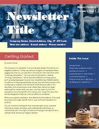 Business Newsletter 2 Col 6 Pp Mailer