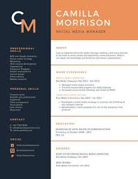 blue modern resume template blue and orange formal academic resume resume placement resume