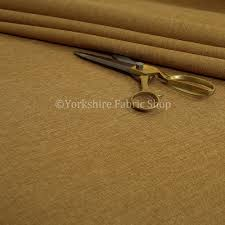 lauren hardwearing linen effect chenille upholstery furnishing fabric golden beige colour made to measure curtains service