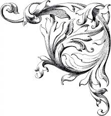 wedding scroll design clip art