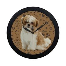 Maltese Shih Tzu Dog Black Circular ...