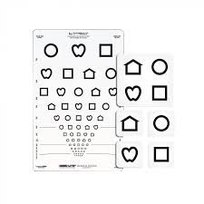 Vision Acuity Chart Lea Symbols Proportionally Spaced Set