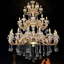 gold chandelier antler extra large chandeliers hotel hall large candle chandelier living room retro gold crystal