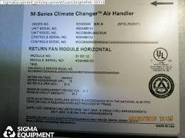 trane m series air handler. 5 trane m series air handler w