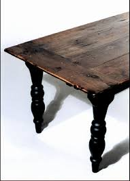 plantation farm table 72 x 40 x 30 h this table is constructed from antique pine beams and old barn board top inquire about this item now