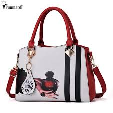 Bag Brand <b>FUNMARDI</b> Trendy Cartoon Printing Handbags <b>Vintage</b> ...