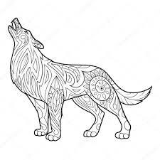 Kleurplaten Voor Volwassenen Wolf With Wolf Kleurplaat Kleurplaat