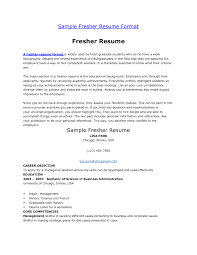 Sample Career Objective In Resume For Freshers Best Resume Career