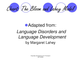 Bloom And Lahey Chart Ppt Spoken Language Powerpoint Presentation Free Download