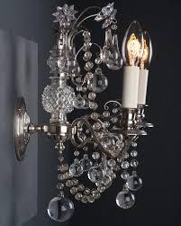 lighting set. Set Of 3 Superb Osler Crystal Wall Sconces, Antique Lighting
