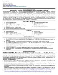 Example Resumes Technical Resume Experts Free