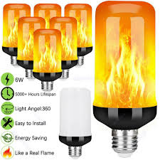 Flame Effect Light Bulb Uk Details About 2 4pcs 4 Mode E27 6w 96 Led Burning Light Flicker Flame Bulb Fire Effect Lamp Uk