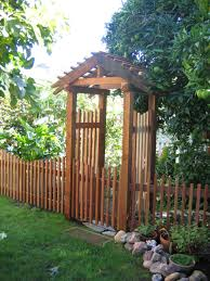 Fence Gate Arbor Designs Fence With Arbor Gate Redwood Fence Gate And Arbor Great