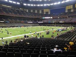 Superdome Seating Chart With Row Numbers Mercedes Benz Superdome View From Plaza Level 121 Vivid Seats