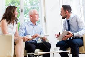 Financial Advisor Retirement Financial Advisor Consulting Couple In Retirement Planning In
