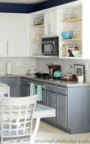Grey Cabinets Kitchen Painted Painted Two Tone Kitchen Cabinets White Uppers And Gray Lowers
