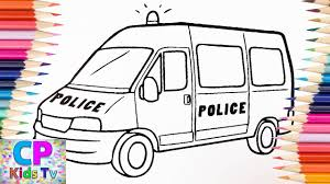 Police Van Coloring Pages For Kids 3 How To Color Police Car