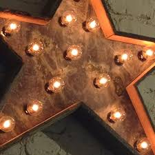 hand crafted star light fixture metal sign reclaimed barn wood 24 inch diameter by west vintage trading company custommade com
