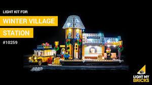 Lego Winter Village Lights Lego Winter Village Station 10259 Light Kit Light My Bricks