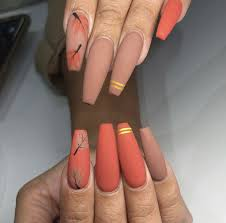 Pin by leanna jacobson on NAIL s l a y | Matte nails design, Fall acrylic  nails, Fall nail art designs