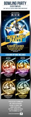 bowling party flyer bowling flyer template publisher flyer templates
