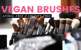 vegan makeup brushes are made with synthetic fibers instead of hair check out this