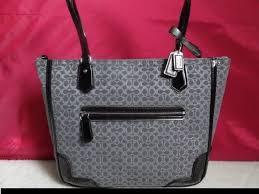 COACH Poppy Signature Metallic Tote Bag Handbag Jacquar