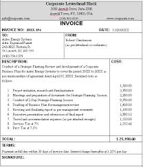 Business Invoice Sample Format For A Typical Business Invoice