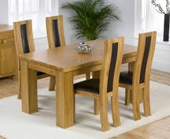 Oak Chairs For Kitchen Table Madrid Solid Oak Furniture Dining Table And Chairs Set