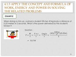 chapter work energy and power  power in solving the related problems 23