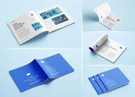 This beautiful template includes four working. Free Square Brochure Magazine Mockup Psd Set Good Mockups