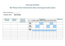 Cleaning Checklist Template Free Lab Cleaning Schedule Template