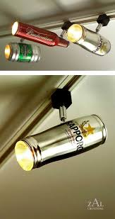 track lighting cans. Track Lighting Made From Beer Cans. So Cool For A \ Track Cans