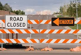 Image result for road blocks road signs