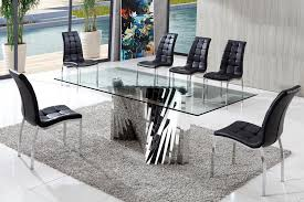 modern glass kitchen table. Wonderful Kitchen Glass Dinning Table Adorable Modern Dining And Perfect Intended For  Contemporary Ideas 8 On Kitchen C