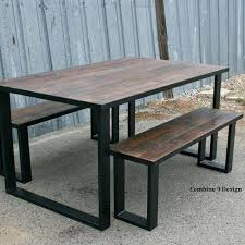 reclaimed wood dining chairs hand crafted reclaimed wood dining set industrial steel rustic farmhouse table bench