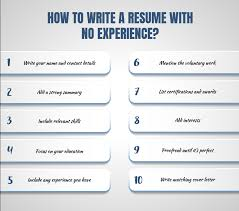 How To Make A Resume With No Experience 10 Steps