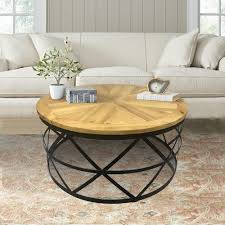 reclaimed wood coffee tables accent tables the home depot intended for reclaimed wood coffee table round