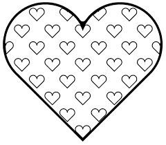 Small Picture Coloring Pages Of Hearts